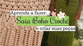 Como fazer Saia crochê estilo Boho ♥ Crie seus próprios modelos♥ PARTE #1