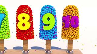 new Learning Numbers with Ice Cream for Children Learn Colours For Kids Toddlers