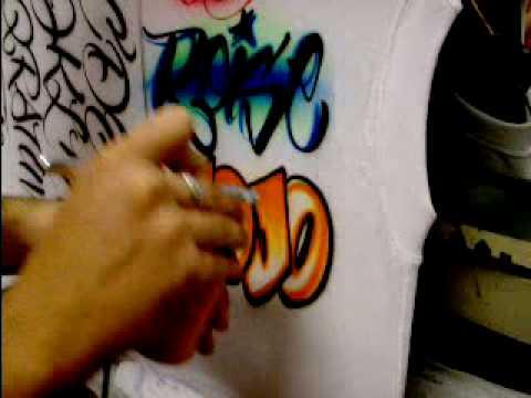 airbrushing names