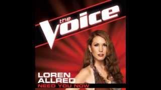 "Loren Allred: ""Need You Now"" - The Voice (Studio Version)"