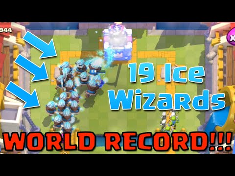 ICE WIZARD RECORD!!! 19 Ice Wizards' in Clash Royale - Ice Wizard Challenge