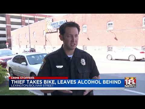Thief Takes Bike, Leaves Alcohol Behind