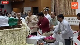 Governor ESL Narasimhan Pays Tribute to Former PM Atal Bihari Vajpayee | BJP Headquarter
