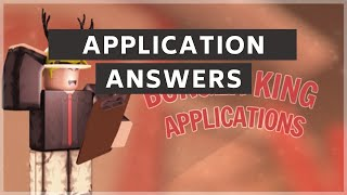Burger King Application Answers - 2020 | ROBLOX