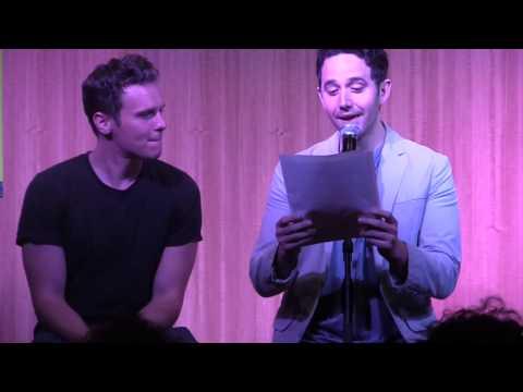 Santino Fontana and Jonathan Groff Sing