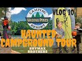 VLOG 10: Haunted Halloween Campground Tour | Wading Pines CampingTrip Chatsworth, NJ Pinelands