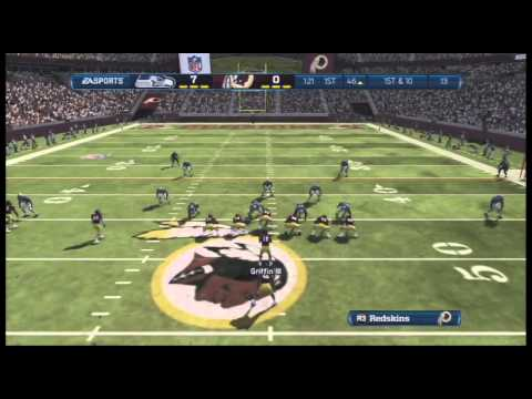 Madden NFL 13 The Seattle Seahawks vs The Washington Redskins 1st Half  HD - Online Ranked Match