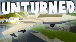 FLYING THE LIBERATOR FIGHTER JET! - Unturned Mod Showcase Funny Moments