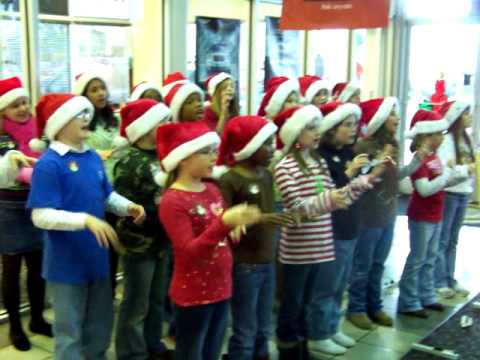 Hollis Hand Elementary School Christmas Carolers Visit Mike Patton Auto Family!