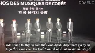 [VIETSUB] BTS có mặt tại buổi lễ giao lưu văn hóa Hàn - Pháp 2018