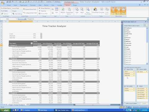 Manage Project Resources and Profits - Time Tracker Analyzer