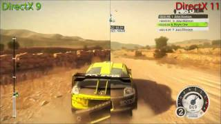 Dirt 2 - DirectX 9 vs DirectX 11 Split Screen Benchmark