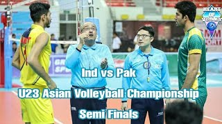 INDIA vs PAKISTAN | U23 Asian Men's Volleyball Tournament | SEMI FINAL | Set One