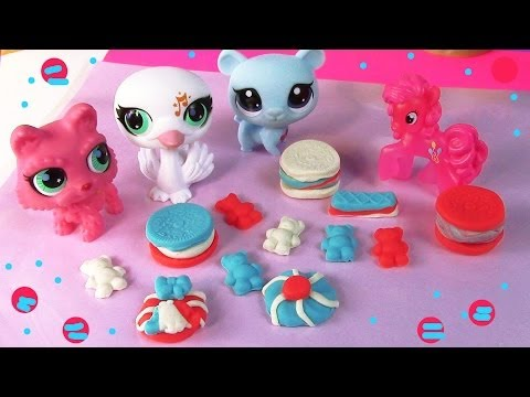 MLP Pinkie Pie 4th of July Littlest Pet Shop Playdoh Treats My Little Pony LPS