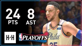 Ben Simmons Full Game 2 Highlights 76ers vs Heat 2018 Playoffs - 24 Pts, 8 Reb, 8 Assists!