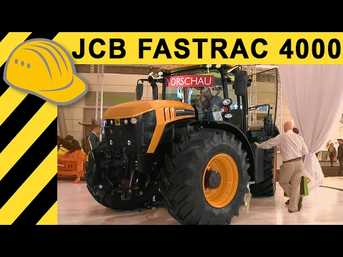 New JCB Fastrac 4000 Walkaround - Interview mit JCB agritechnica 2013 - Bauforum24 TV