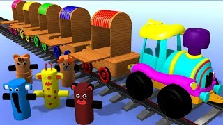 Learning Animals Name With Animal Transporter For Kids | Toy Train | Cartoon Tv