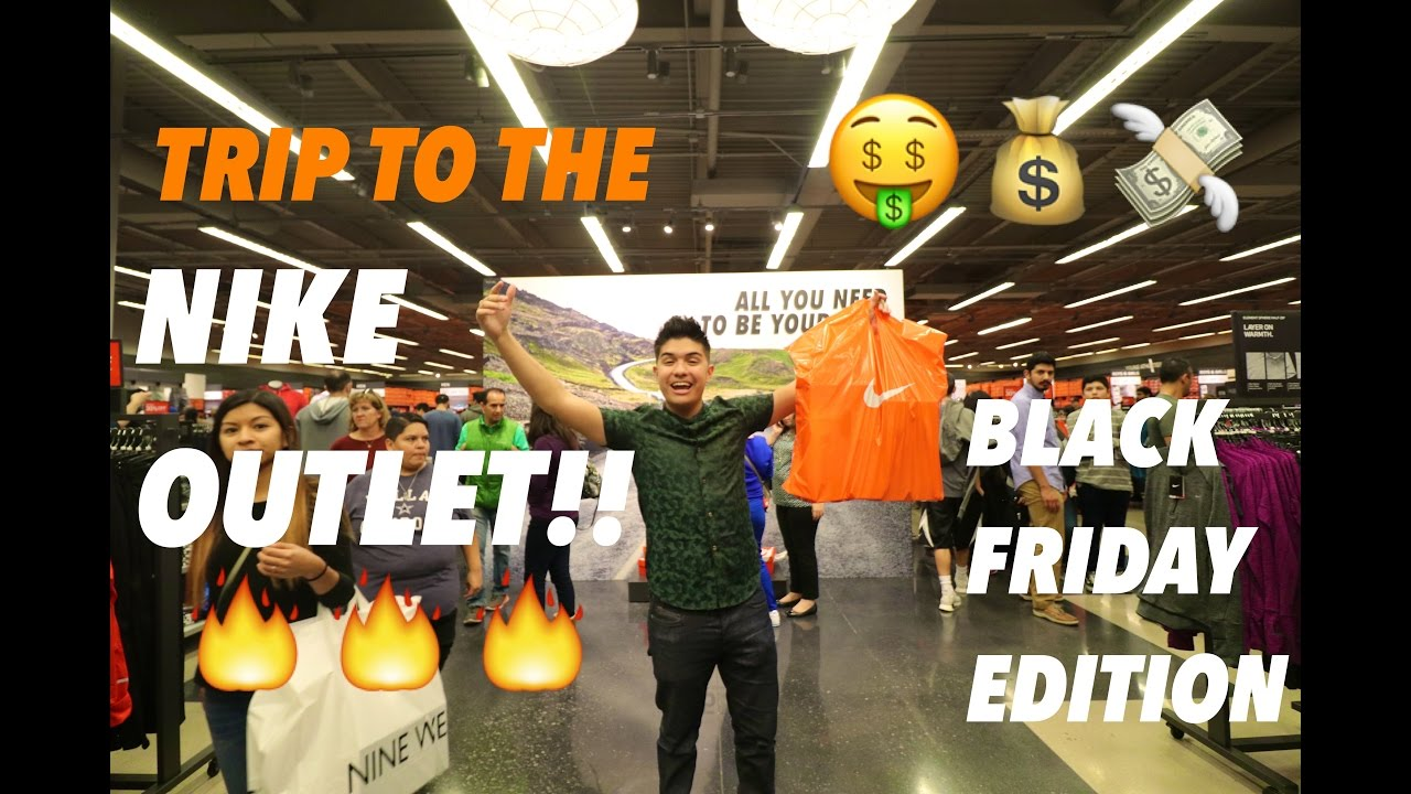 NIKE OUTLET ON BLACK FRIDAY SNEAKER STEALS!! TRIP TO THE NIKE OUTLET!!