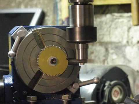 Vertex CNC Rotary Table Conversion - Finished  (Clock Wheel Cutting)