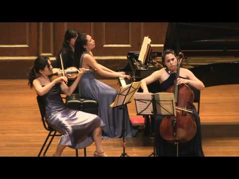 Schumann Piano Trio No.1 Clara Trio filmed by Simon