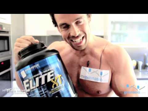 Proteinas Elite XT de Dymatize para el entrenamiento por Rafa Martin