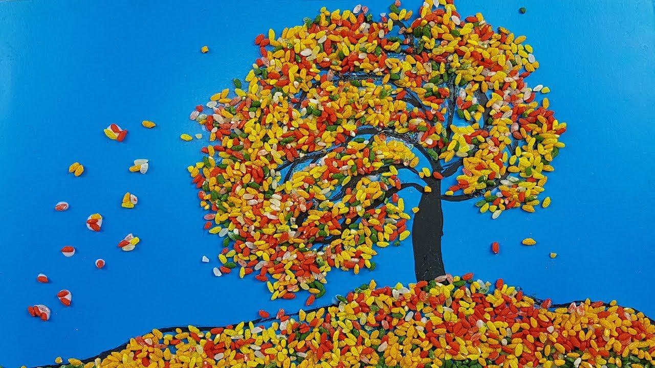 Поделка рисунок из листьев