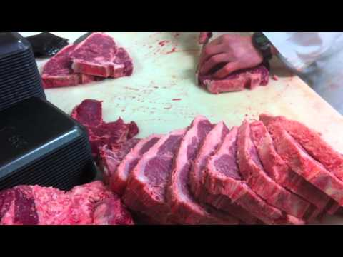 Meat Cutting demo - Beef Shortloin