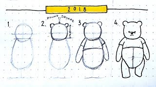 How To Draw Winnie The Pooh | Classic & New 2018 Version