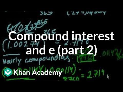Compound Interest and e (part 2)