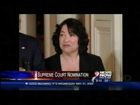 CHHS Director discusses the nomination of Sonia Sotomayor on WUSA TV - 5/27/09