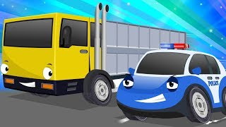 Bob the Police Car Chasing Yellow Transport Vehicle | Songs and Rhymes Cartoon for Kids