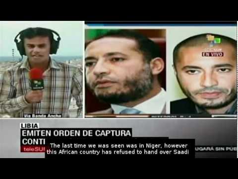 International wanted notice for Saadi Gaddafi