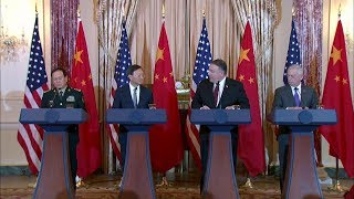 U.S.-China Diplomatic and Security Dialogue - Joint Press Availability