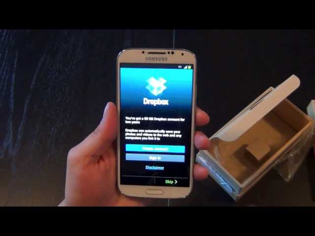 Samsung Galaxy S4 Unboxing und Hands-On