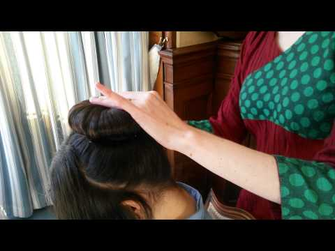 Hair in single doughnut (for adults) video tutorial