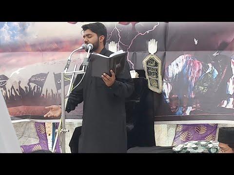 """Peshkhani Janab """"Kamal Manglori"""" Sahab 3rd Day Salana Majlis Chhajupura Sadat Bijnor UP"""