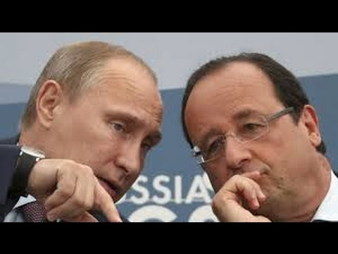 What did Hollande discuss with Putin in Moscow?