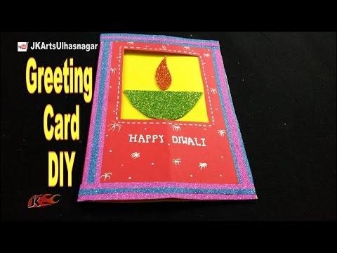 Diwali Greeting Card  | DIY How to make Window Card | JK Arts 1081