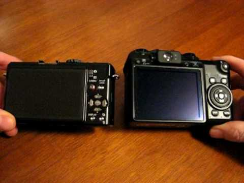 Panasonic LX3 vs. Canon G10 size comparison with some features side by side Music Videos