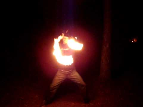 Fire poi at the 2010 FL Rainbow Gathering