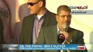 CNN's Wolf Blitzer interviews Egyptian President Morsy