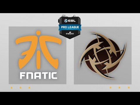CS:GO - Fnatic vs. NiP [Dust2] Map 1 - ESL Pro League Season 4 - EU Matchday 24
