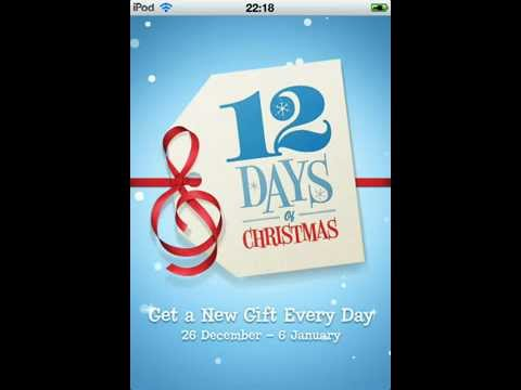 12 days of christmas in itunes free gifts!!!!