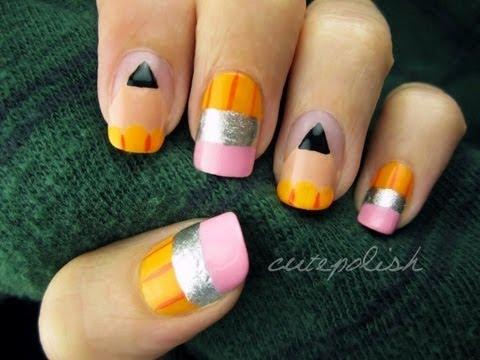 Cute Pencil Nails