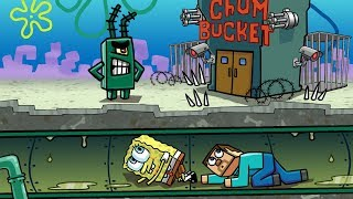 Minecraft | SNEAKING INTO THE CHUM BUCKET! (Most Secure SPONGEBOB Base)