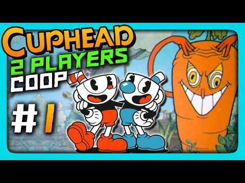 Cuphead 2 PLAYERS CO-OP Прохождение #1 ✅ МУЧАЕМСЯ ВДВОЕМ!
