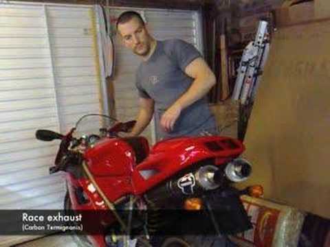 The great Ducati 748 exhaust experiment Video
