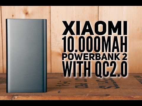 Xiaomi 10.000mAh powerbank 2 with QC2.0 unboxing & tests