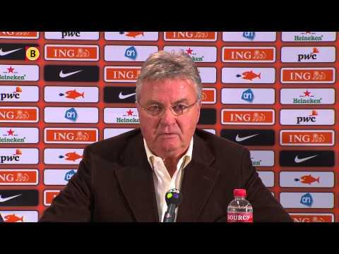 Bondscoach Guus Hiddink over de selctie van Jetro Willems en het afvallen van Jeroen Zoet