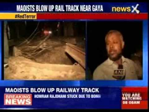 Suspected Maoists blow up railway track near Gaya in Bihar